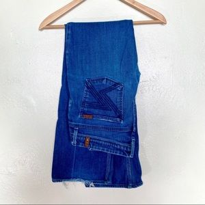 7 for all mankind 7 pocket flare jeans size 28